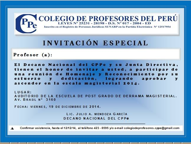 Invitación especial