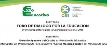 """Invitación al """"Foro de Diálogo por la Educación"""""""