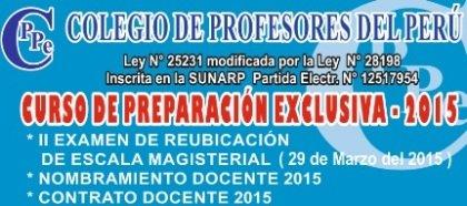 Horario del Curso de Preparación Exclusiva 2015