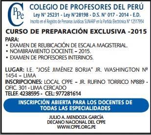 Curso de Preparación Exclusiva 2015