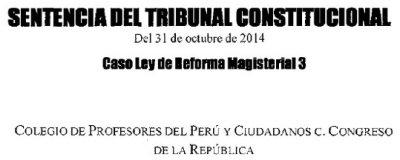 Sentencia del Tribunal Constitucional sobre la demanda de inconstitucionalidad interpuesta por el CPPe