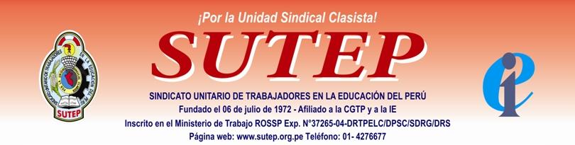 Oficio del SUTEP dirigido al Ministro de Educación, sobre maestros interinos.