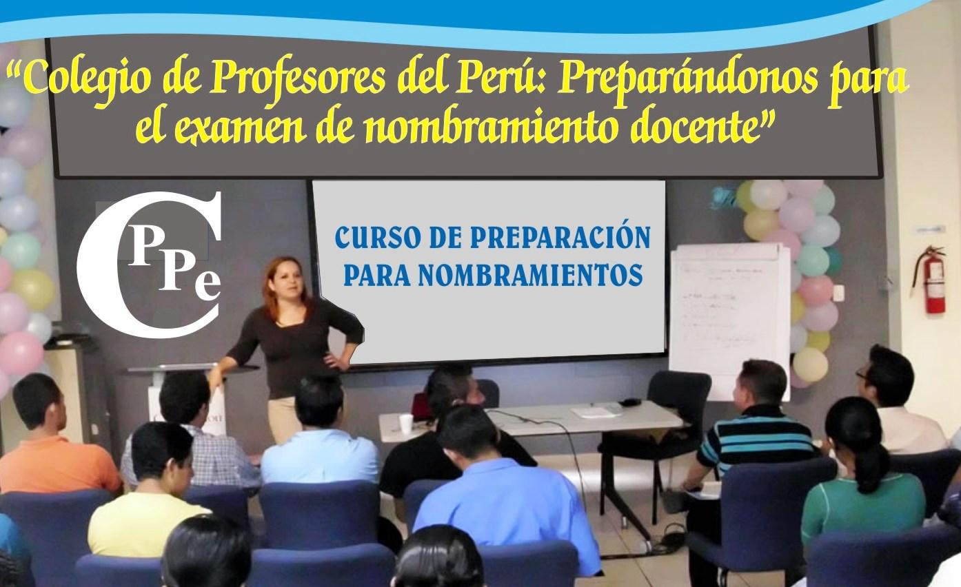 PREPARÁNDONOS PARA EL EXAMEN DE NOMBRAMIENTO