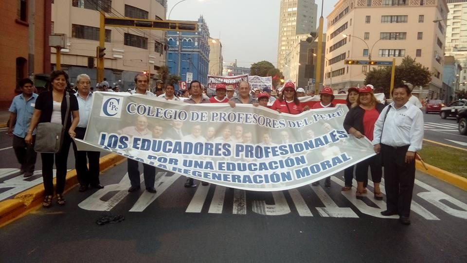 El CPPe presente en la Marcha Nacional contra la Corrupción.