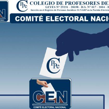COMUNICADO DE POSTERGACIÓN DE ELECCIONES DEL CPPe