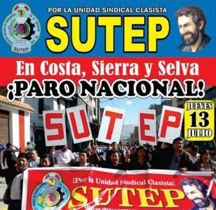 PRONUNCIAMIENTO SOBRE EL PARO NACIONAL DEL SUTEP