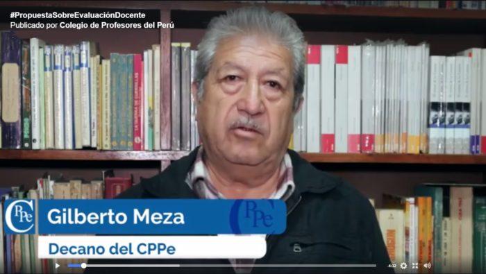 Decano Nacional explica la posición del Colegio de Profesores sobre la evaluación docente.