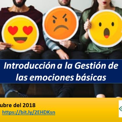 WEBINAR GRATUITO – INTRODUCCIÓN A LA GESTIÓN DE EMOCIONES BÁSICAS