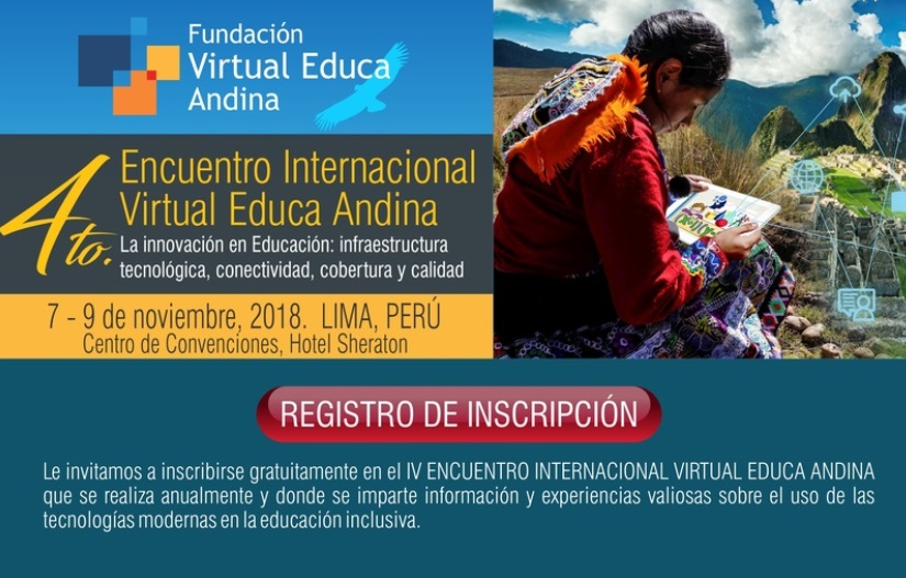 IV ENCUENTRO INTERNACIONAL VIRTUAL EDUCA ANDINA