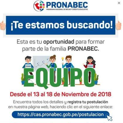 CONVOCATORIA DE PROCESOS DE SELECCIÓN DE PERSONAL BAJO LA MODALIDAD DE CONTRATACIÓN ADMINISTRATIVA DE SERVICIOS – CAS.