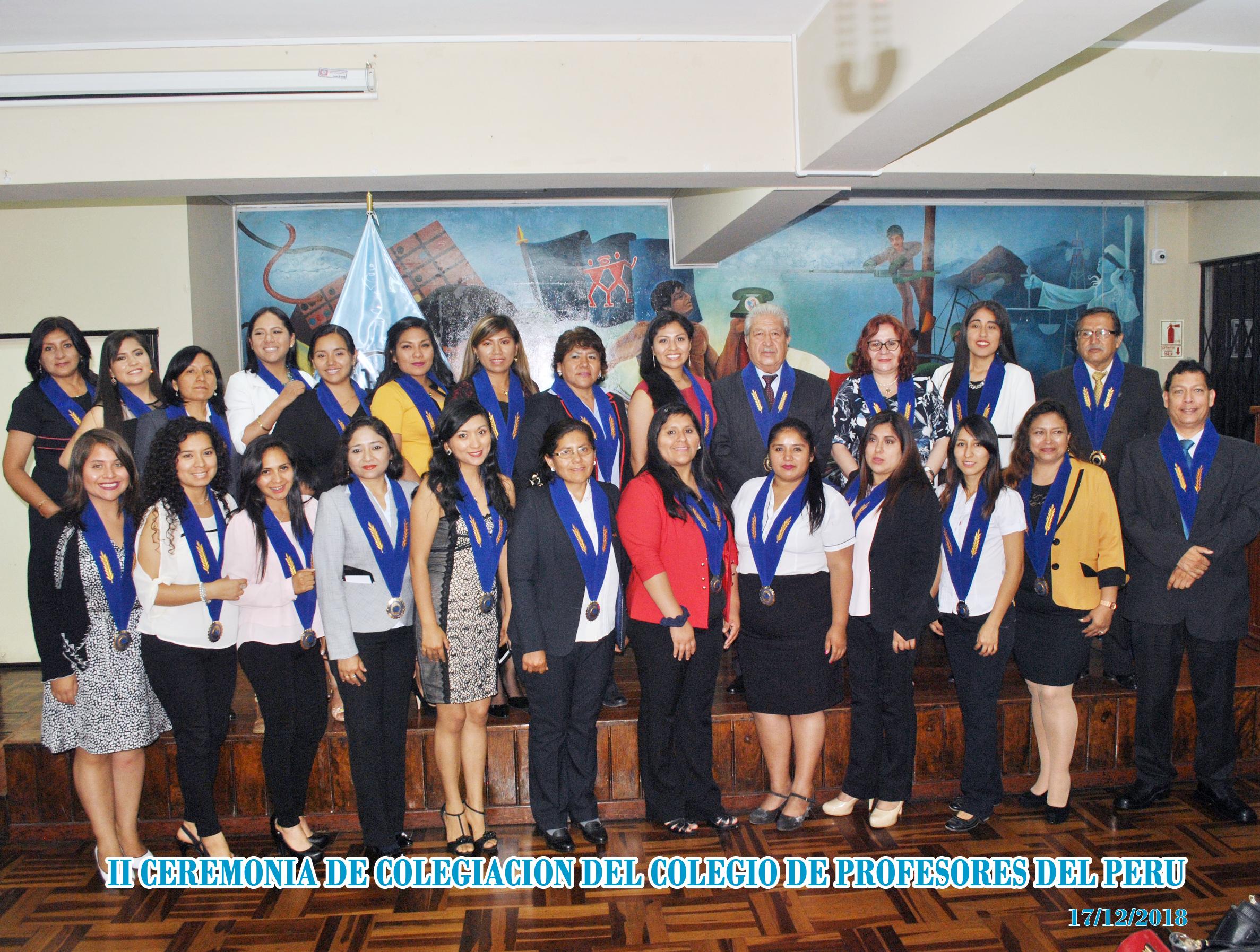 Exitosa II Ceremonia de Colegiación del CPPe 2018