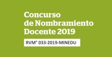 MINEDU – Nombramiento Docente 2019