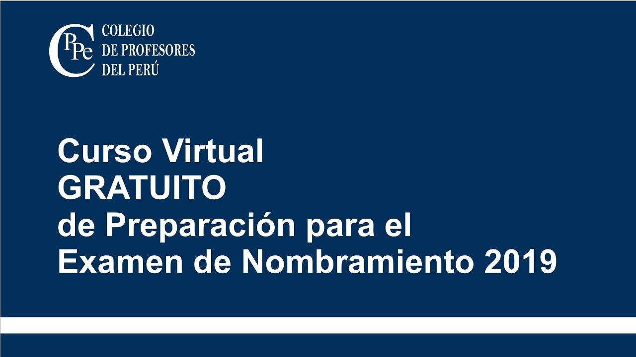 Curso Virtual Gratuito de Preparación para el Examen de Nombramiento