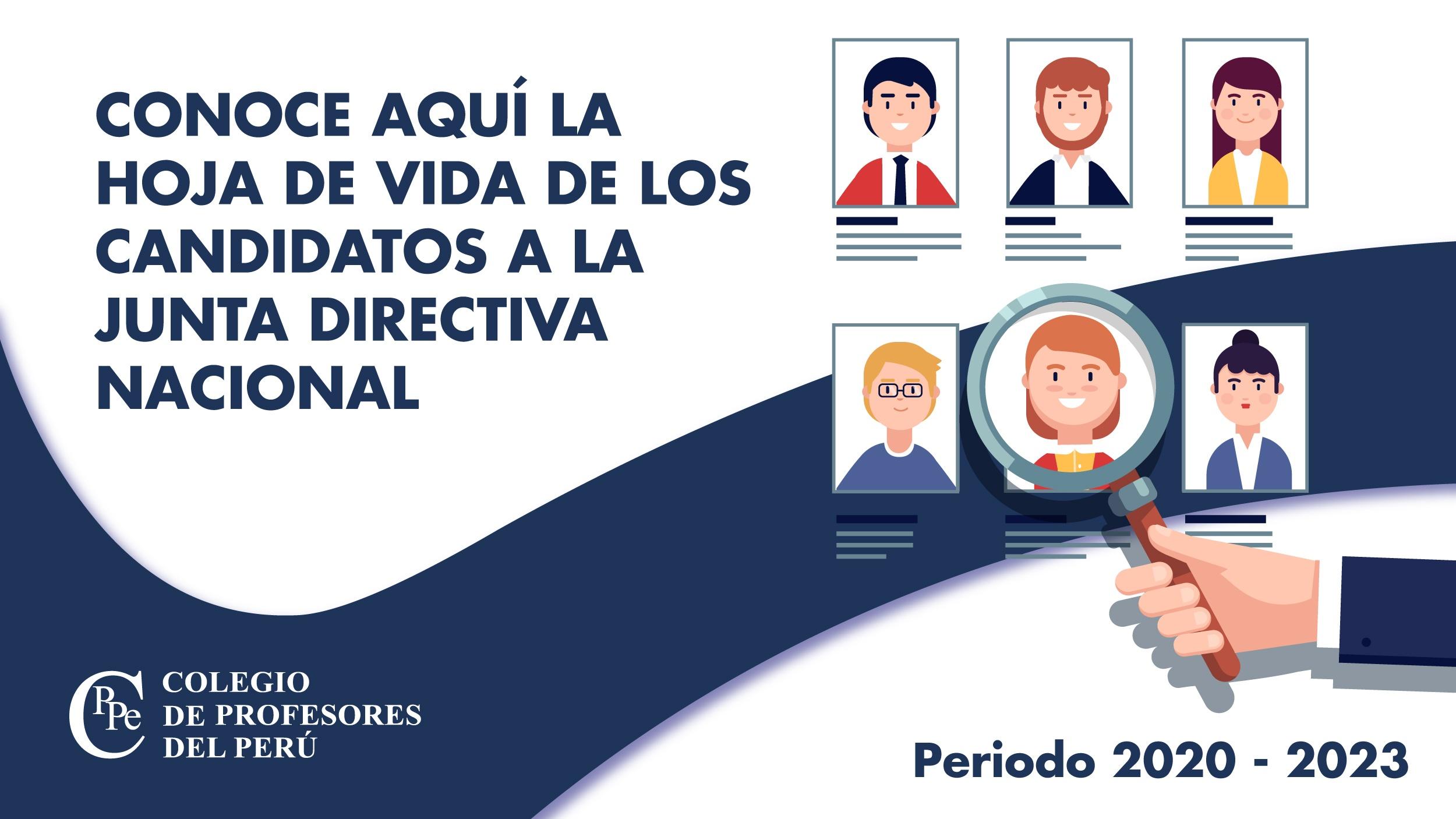 Elecciones Nacionales: Candidatos a la Junta Directiva Nacional del CPPe.