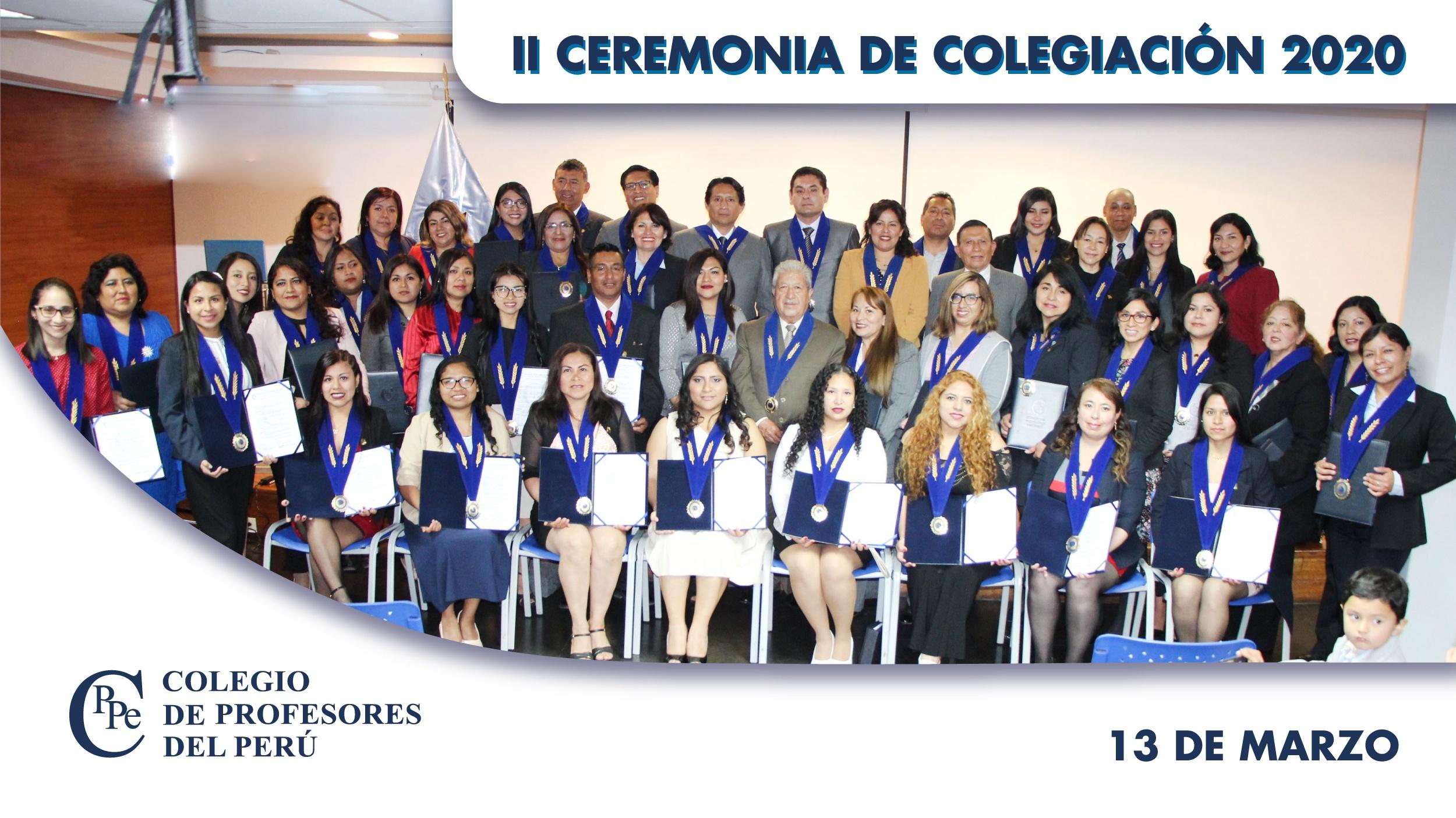 II Ceremonia de Colegiación del CPPe 2020
