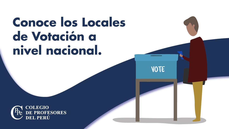 Elecciones CPPe –  Locales de Votación