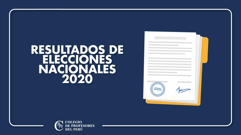 RESULTADOS DE ELECCIONES NACIONALES 2020 DEL CPPe