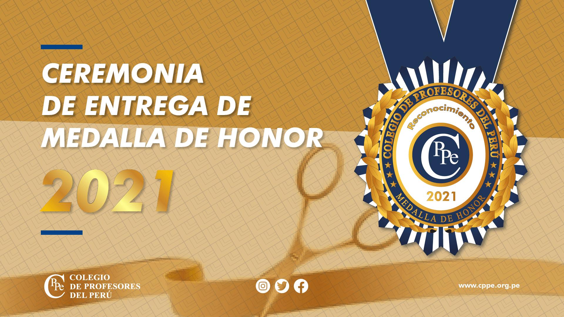 "CONCURSO ""MEDALLA DE HONOR 2021"" DEL CPPe"
